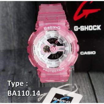 BEST SELLER... Casio Baby G Sherina Casio BA110 Pink Merah Muda TRANSPARANT Jam Tangan Wanita