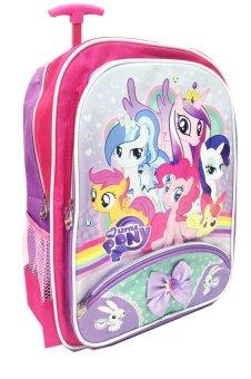 BGC My Little Pony Pinkie Best Friends Pita 2 Tas Troley Anak Sekolah SD + Lunch Bag Aluminium Tahan Panas - 2