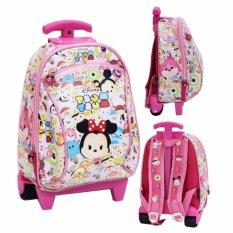 BGC Tas Troley Sekolah Anak PG Tsum Tsum Mickey Minnie Mouse - Full Motif Tsum Tsum Pink