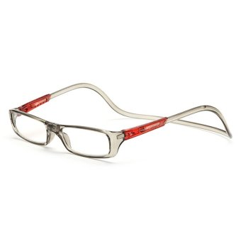 Bi-color Folding Magnetic Reading Glasses +1.5 (gray/red)