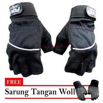 ... Bikers Sarung Tangan Fortuna Lis Half Hitam Free Sarung Tangan Woll