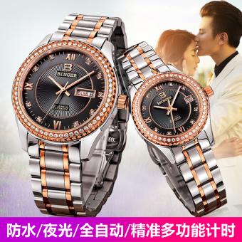 Harga BINGER penuh pria dan wanita jam tangan Couple jam tangan ... 8e6ab3b896