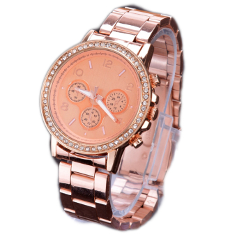 ad94ab49a Bling Crystal Gold Watch Mens Watches Luxury Watches Ladies Watch Stainless  Steel - intl