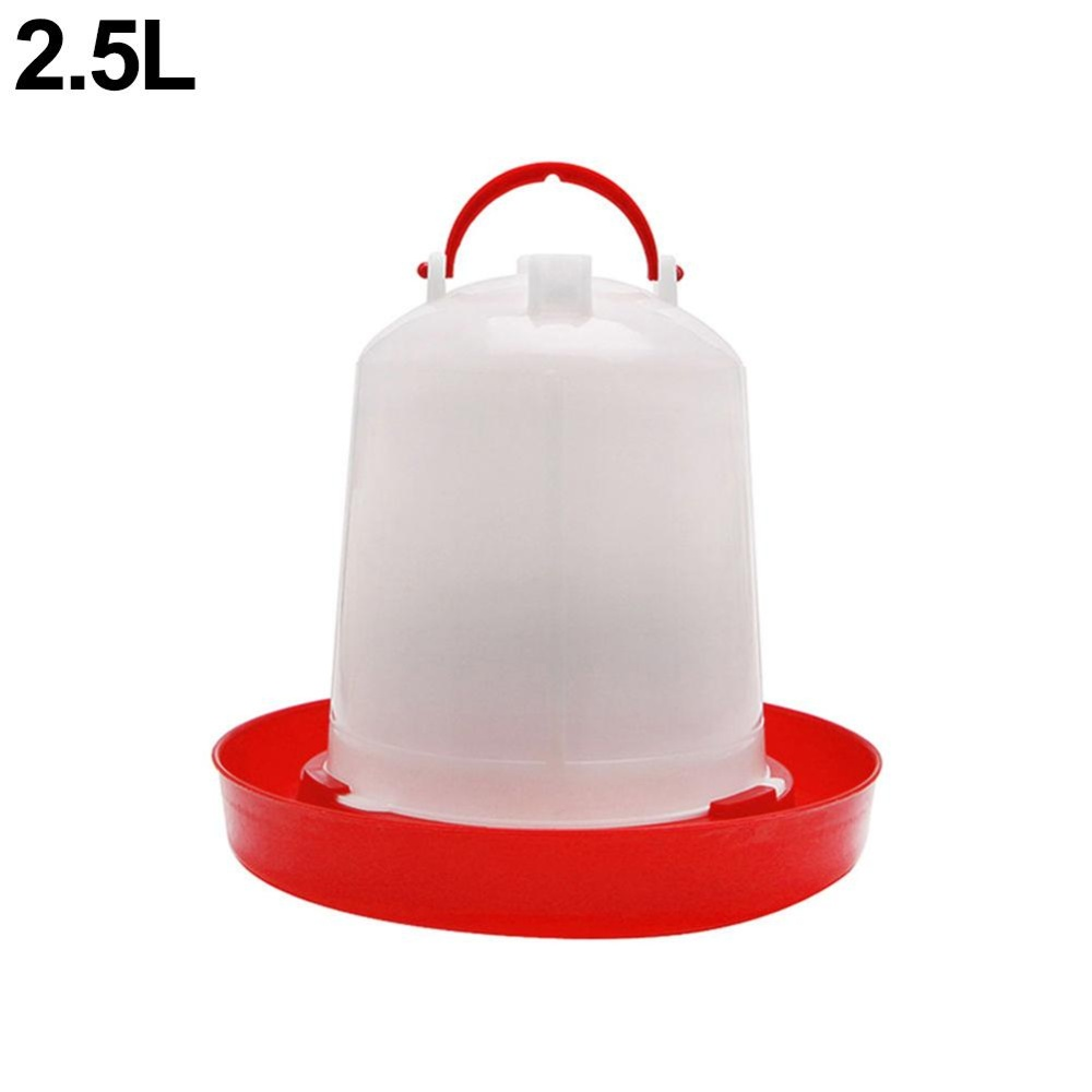 Bluelans(R) 1Pc Chicken Feeder Drinker Poultry Chick Hen Quail Bantam Food Water Kettle 2.5l - intl