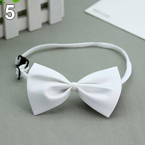 Bluelans(R) Cute Solid Color Adjustable Cat Bowtie Pet Dog Collar Bowknot Necktie Bow Tie (White) - intl