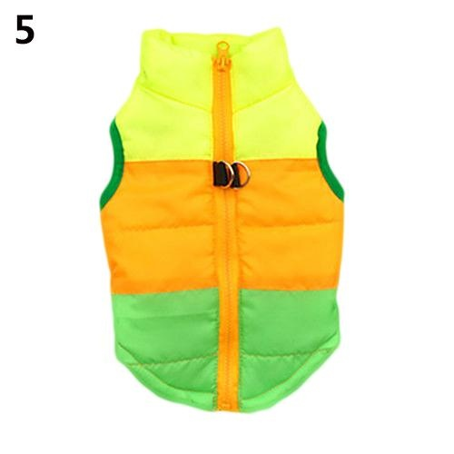 Bluelans(R) Dog Cat Coat Jacket Pet Supplies Clothes Winter Apparel Clothing Puppy Costume S (Green+Yellow) - intl