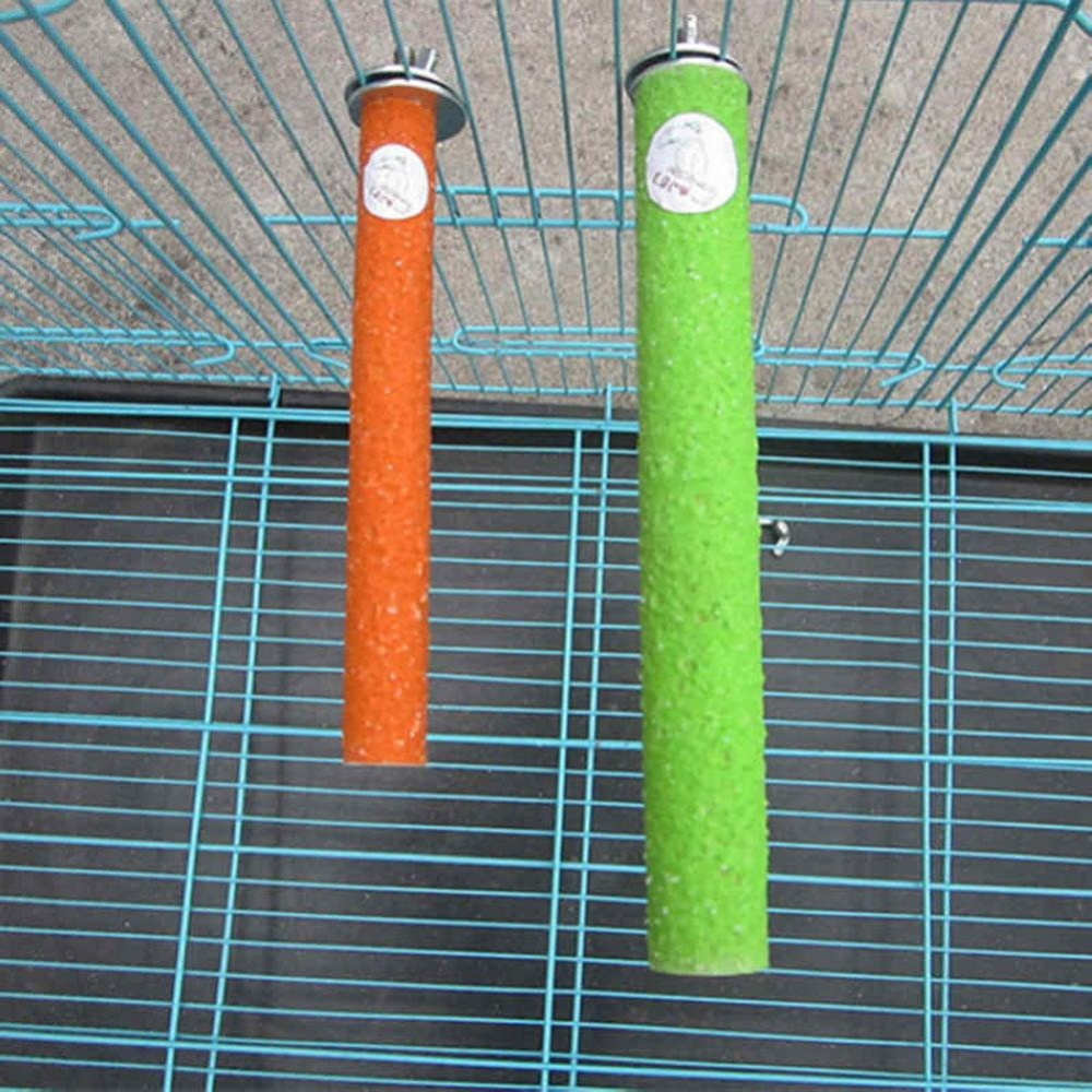 Bluelans(R) Pet Parrot Budgie Chew Bite Paw Grinding Rod Toy Bird Cage Play Stand Perches - intl