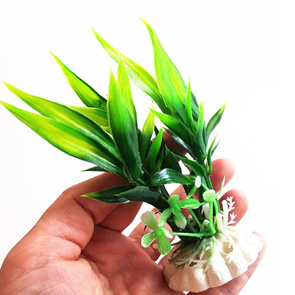 Bluelans(R) Plastic Plant Grass for Aquarium Fish Tank Landscape Decoration Green - intl