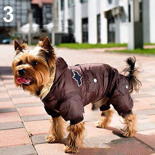 Bluelans(R) Puppy Dog Cat Winter Warm Patches Hooded Button Down Jacket Coat Pet Clothes XL (Brown) - intl