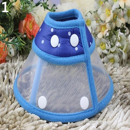 Bluelans(R) Puppy Pet Dog Cat Comfy Cone Neck Collar Anti-Bite Medical Recovery Protection S (Blue) - intl