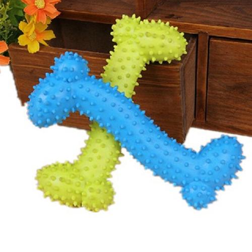 Bluelans(R) tahan terhadap gigitan anjing peliharaan duri tulang anak gigi geraham gigi mengunyah mainan untuk pelatihan - Internasional
