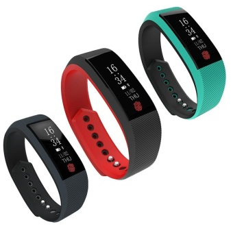 Bluetooth Blood Pressure Heart Rate Monitor Pedometer Sport SmartBand Bracelet - intl