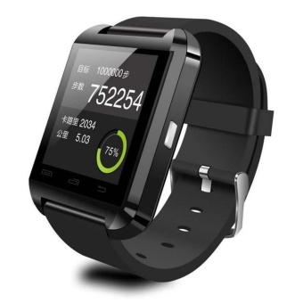 Bluetooth Smart ponsel Mate Wrist Watch untuk Android IOS Samsung HTC SONY Huawei