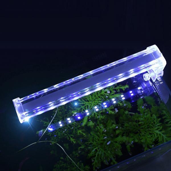 BolehDeals Aquarium LED Lamp Decoration Light with Clip 220V EUPlug 42.5cm - intl