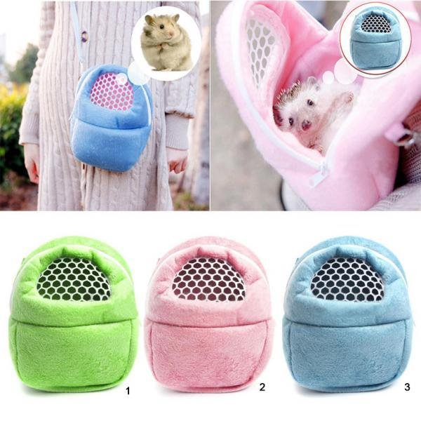 BolehDeals Hamster Hedgehog Ferret Carrier Packet Bag Small AnimalHanging Bag S Pink - intl