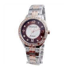 Bonia BN2655 - Jam Tangan Wanita - Stainless Steel (SilverRose Dalam Coklat)