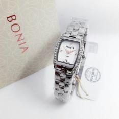 Bonia Jam Tangan Casual Wanita Stainless Steel - Bn 2377 Silver White