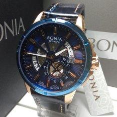Bonia Jam Tangan Pria Bonia BNB10333-1582 Limited Edition Blue Rosegold
