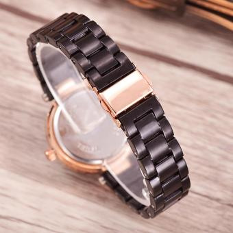 Bonico - Jam Tangan Wanita - Black - Black Imitation Ceramic Band -