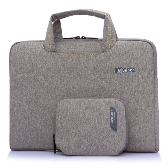 Brinch Unisex 15-15.6 Inch Laptop Messenger Bag with Accessory Bag for Apple, Acer, Asus, Dell, Fujitsu, Lenovo, HP, Samsung, Sony, Toshiba (Khaki) - Intl