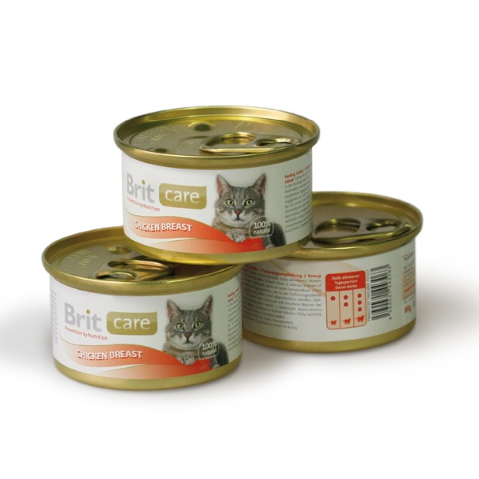 Brit Care Cat Chicken Breast. Makanan kucing dalam kaleng 80 gr.