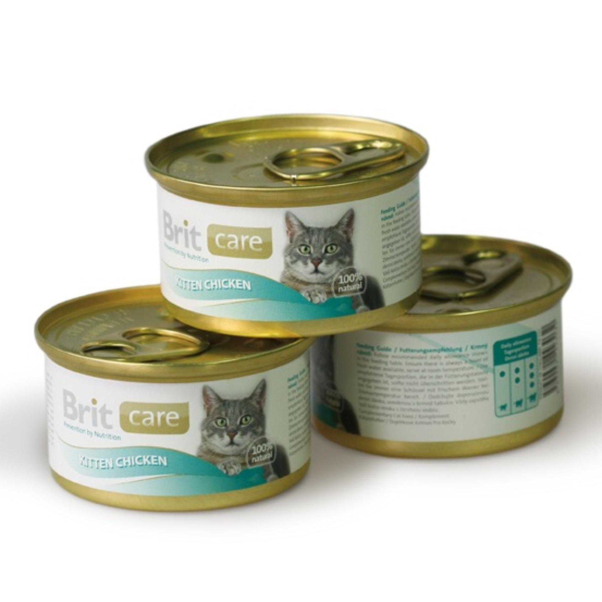 Brit Care Cat Kitten Chicken, Makanan Kucing dalam kaleng 80 gr