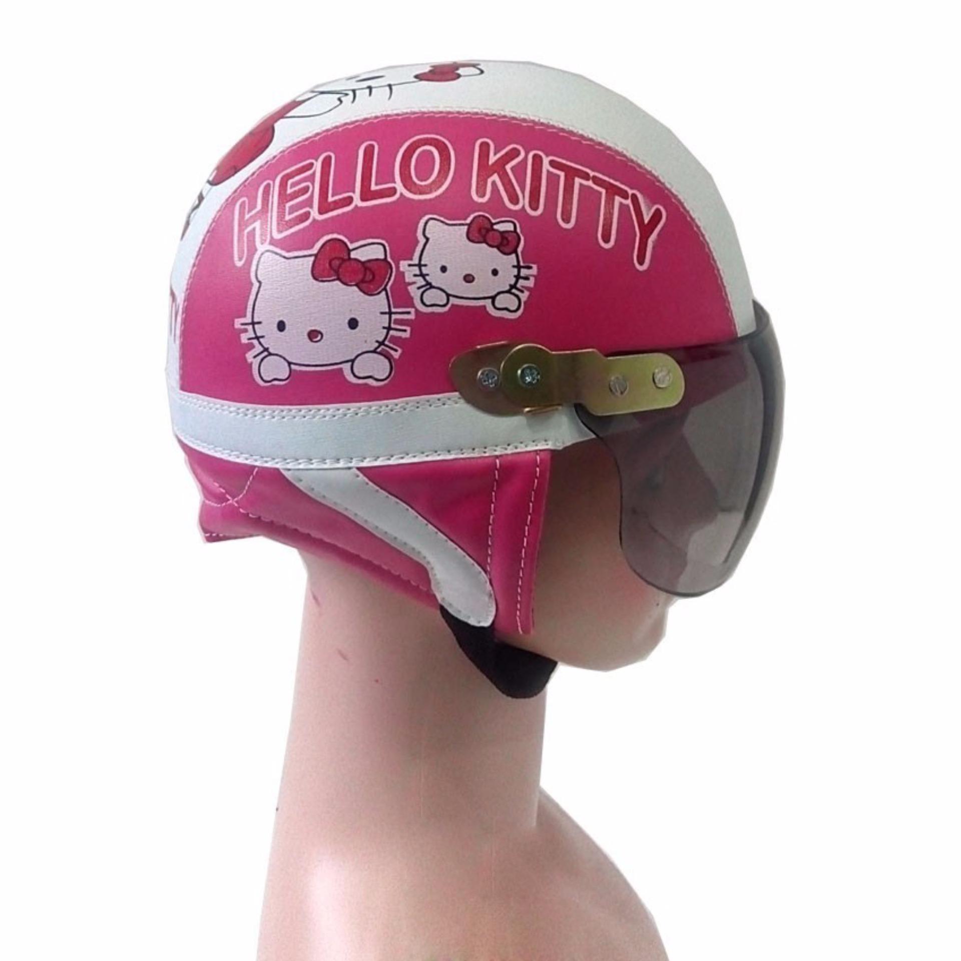 ... Broco Helm Anak anak broco retro kaca riben lucu usia 1 sampai 4tahun Motif Hello Kitty ...
