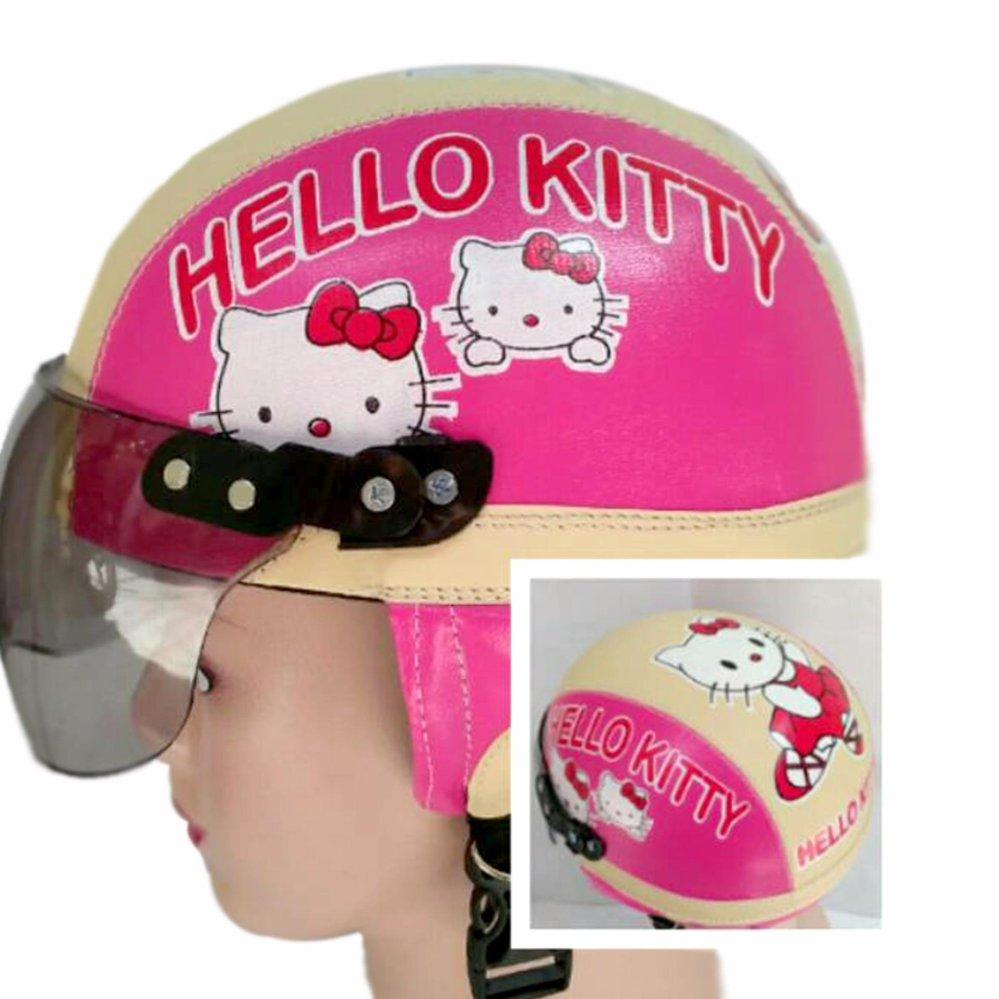 Bandingkan Toko Broico Helm Anak Broco Retro Kaca Riben Lucu Frozen Usia 1 Sampai 4tahun Motif Hello Kitty