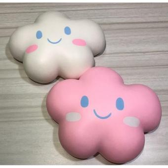 Cannies High Quality Squishy Jumbo Happy Cloud Random Color / Squishy awan