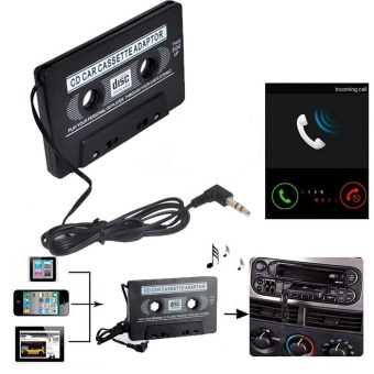 Car Cassette Casette Tape 3.5mm AUX Audio Adapter MP3 /MP4 PlayerCD For iPhone - intl - 2