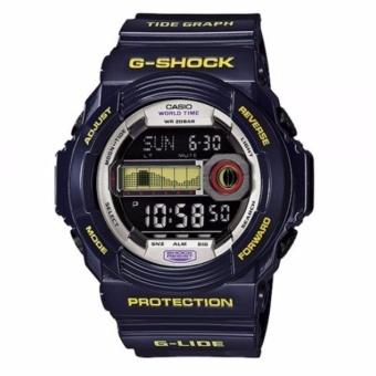 Casio G-SHOCK GLX-150B-6DR - G-Lide - Tide Graph - Multifunction - Jam Tangan Pria - Bahan Tali Resin - Biru