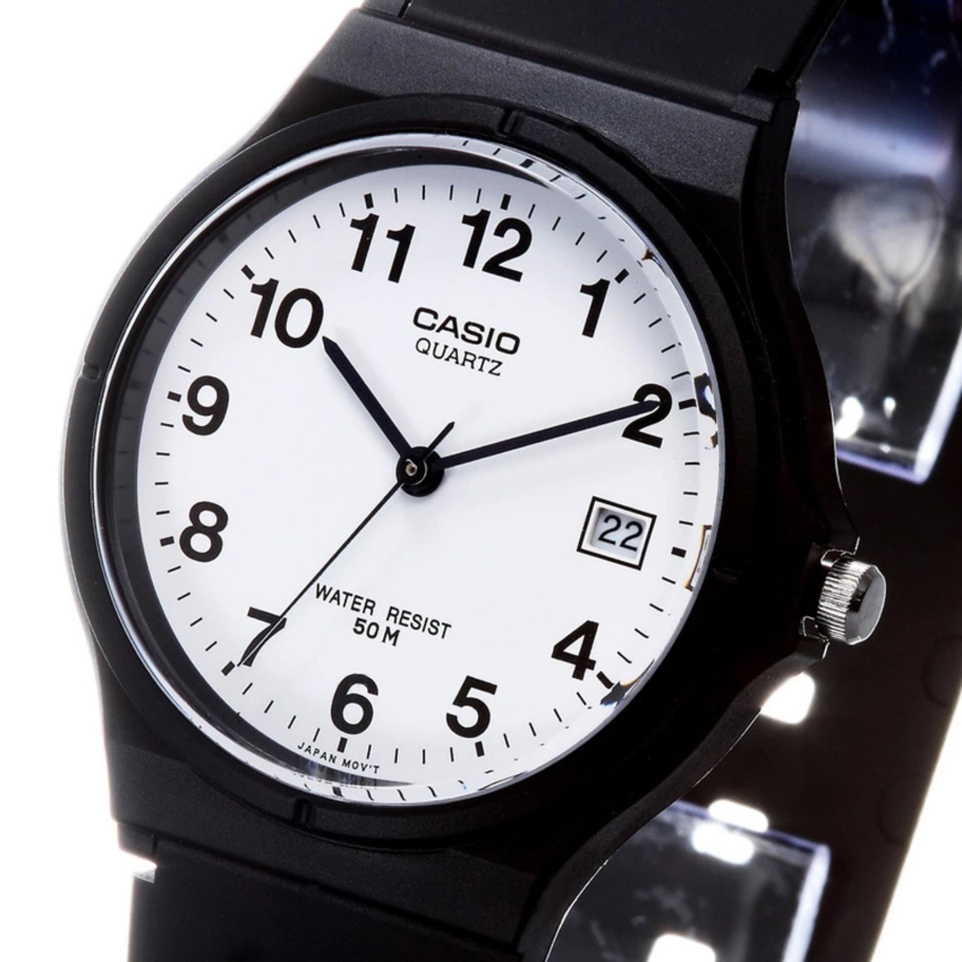 Casio Mw 240 1b2vdf Jam Tangan Pria Hitam Kuning Karet Daftar Standard 3b Black Green Strap Rubber 59 7bvdf Unisex Casual Putih