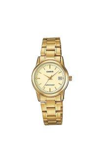Casio Standard Jam Tangan Wanita - Gold - Strap Stainless Steel -LTP-V002G-