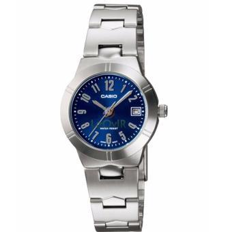 Casio Standard LTP-1241D-2A2 - Jam Tangan wanita - Silver - Strap Stainless Steel - LM