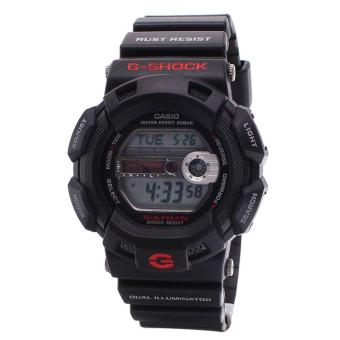 Casio Watch G-SHOCK GULFMAN Black Resin Case Resin Strap Mens NWT + Warranty G-9100-1D