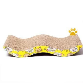Cat Scratching Board Corrugated Cardboard Cat W Type Honeycomb wave Design - intl