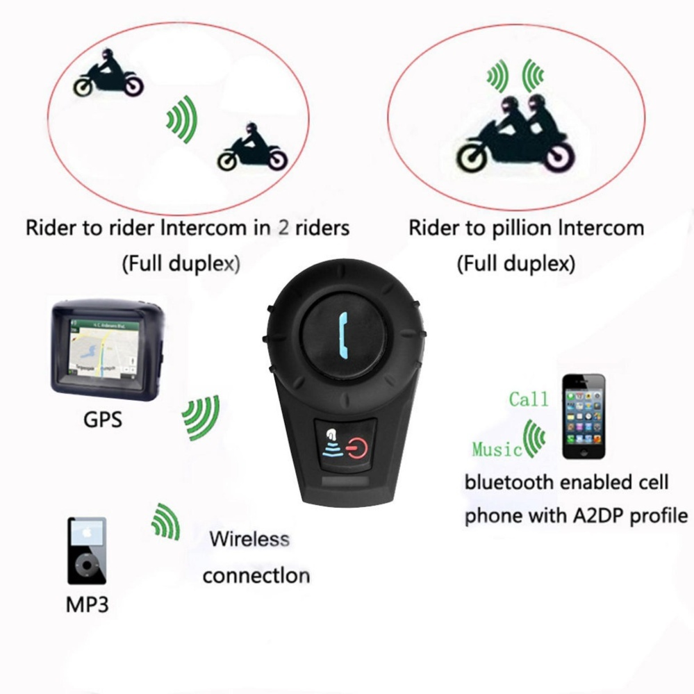 ... Interkom Golongan Pemegang Source · Home Motor Sepeda motor Catwalk 1x 500m Bluetooth Interphone Motorcycle Helmet IntercomCommunication Headset