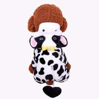 Catwalk Small Pet Dog Velvet Winter Warm Clothes Fashion CostumePuppy Cat T-Shirt Apparel(Size:M) - intl