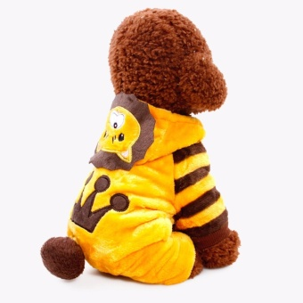 Catwalk Small Pet Dog Velvet Winter Warm Clothes Fashion CostumePuppy Cat T-Shirt Apparel(Size:S) - intl