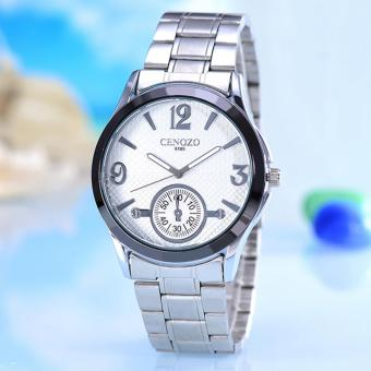 Cenozo - Jam Tangan Wanita- Body Silver - White Dial - Silver Stainless Steel Band - CNZ-RT-9165-L-SW-STAINLESS STEEL BAND
