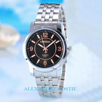 Cenozo - JamTangan Pria - Body Silver - Black/Rose Dial - Stainless Stell Band - CNZ-RT-8126A-G- SB/Rose-Stainless Stell Band