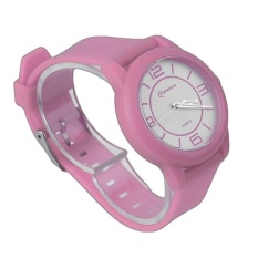 CHEER MINGRUI Creative Luxury Wrist Watch Rubber Strap QuartzWristWatch 8820 pink(Not Specified)(OVERSEAS) - intl