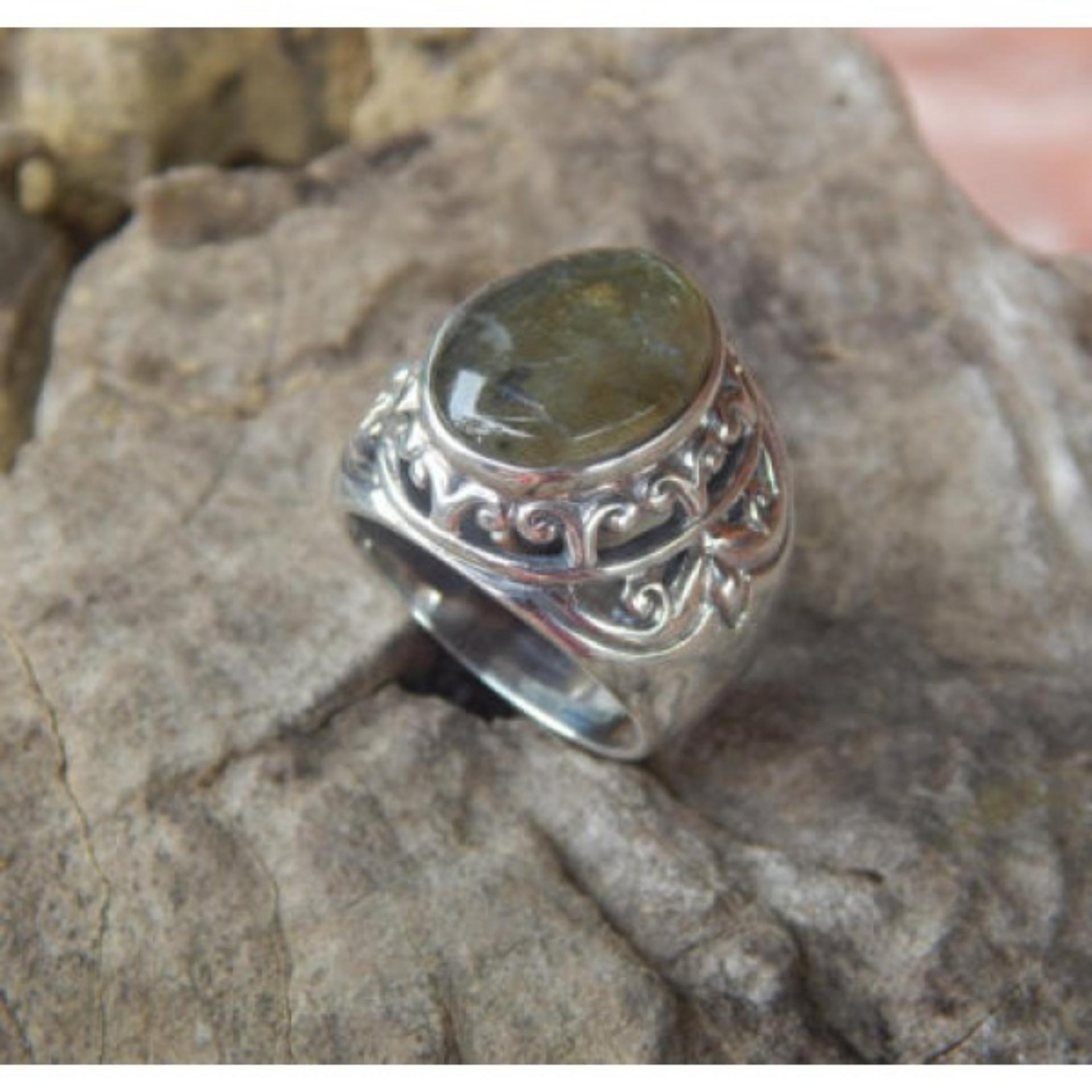 Satu Set Cincin Berantai Dengan Bahan Perak Berkelas Internasional 1 Perhiasan Source Yks 3 5mm Male To