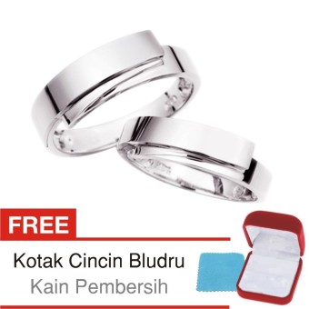 Gambar Cincin Tunangan Couple Perak Lapis Rhodium DK.23 Silver Exclusive