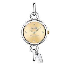 Coach Watch Hangtag Silver Stainless-Steel Case Stainless-Steel Bracelet Ladies NWT + Warranty 14502689