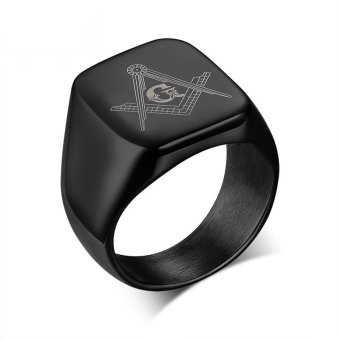Cool Rock Men Masonic Rings Stainless Steel Big Wedding Rings ForMen Jewelry High Quality Men Rings