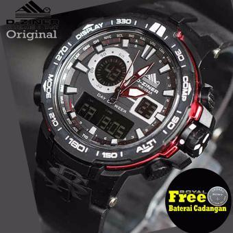 D-ziner Jam Tangan Sport Dual Time Pria - DZ1205RSII