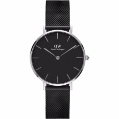 Daniel Wellington DW00100246 Jam Tangan Wanita 28MM Classic Petite Ashfield Women Stainless Steel Watch - Silver Black