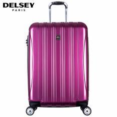 Delsey Helium Aero Tas Koper 81cm 4Wheels Glossy Large Hard Case Trolley - Ungu