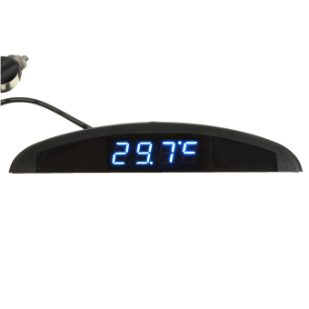 Digital led Electronic Time Clock + Thermometer + Voltmeter 3 In 1 For Car Auto- intl